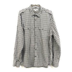 Express Plaid Fitted Button Down Shirt Men's XL